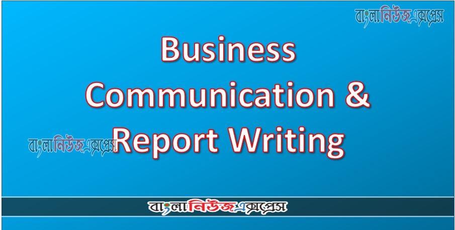 Hon's 2nd: Business Communication & Report Writing