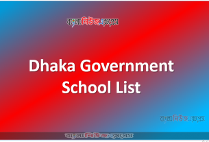 Dhaka Government School List