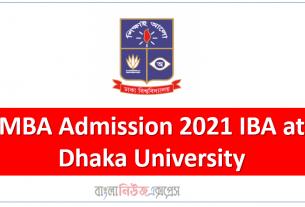 MBA Admission 2021 IBA at Dhaka University