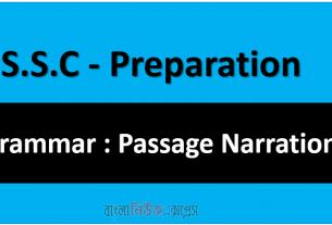 S.S.C - Preparation Grammar : Passage Narration
