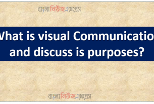 What is visual Communication and discuss is purposes?