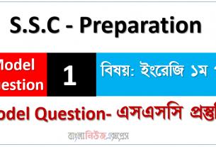 S.S.C – Preparation ইংরেজি ১ম পত্র মডেল স্টেট ০১ - এসএসসি প্রস্তুতি