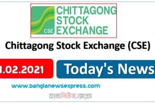 02.02.21 News Chittagong Stock Exchange (CSE)