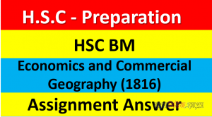 HSC BM Economics and Commercial Geography (1816) Assignment Answer