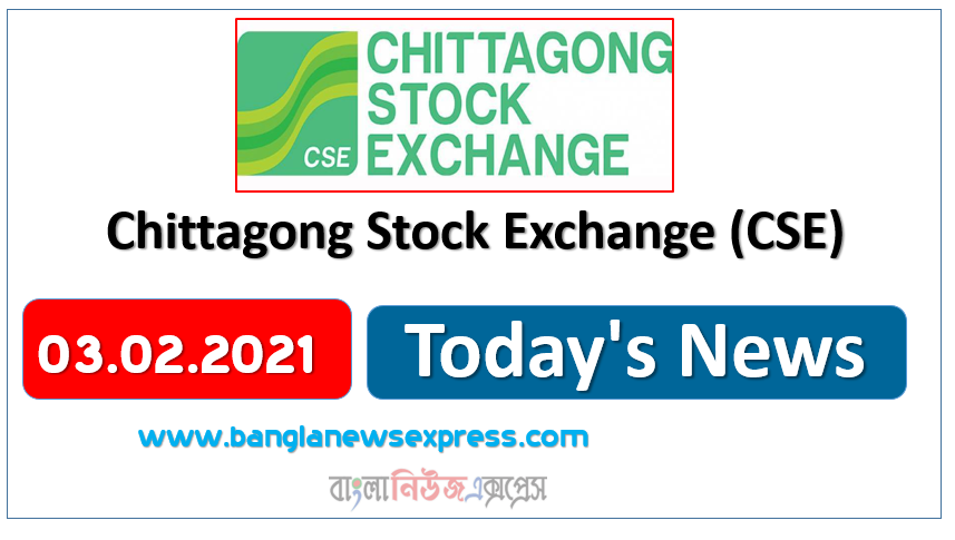CSE News 03/02/21 Chittagong Stock Exchange