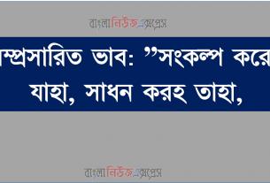"""সম্প্রসারিত ভাব: """"সংকল্প করেছ যাহা, সাধন করহ তাহা,"""