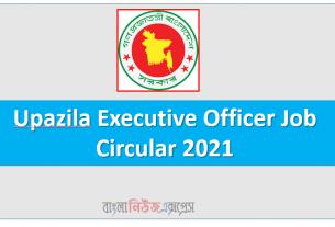 Upazila Executive Officer Job Circular 2021