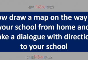 Now draw a map on the way to your school from home and make a dialogue with directions to your school