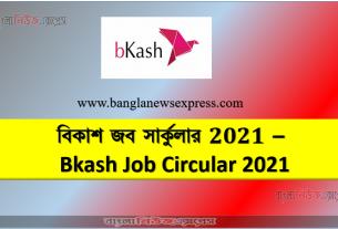 বিকাশ জব সার্কুলার 2021 - Bkash Job Circular 2021