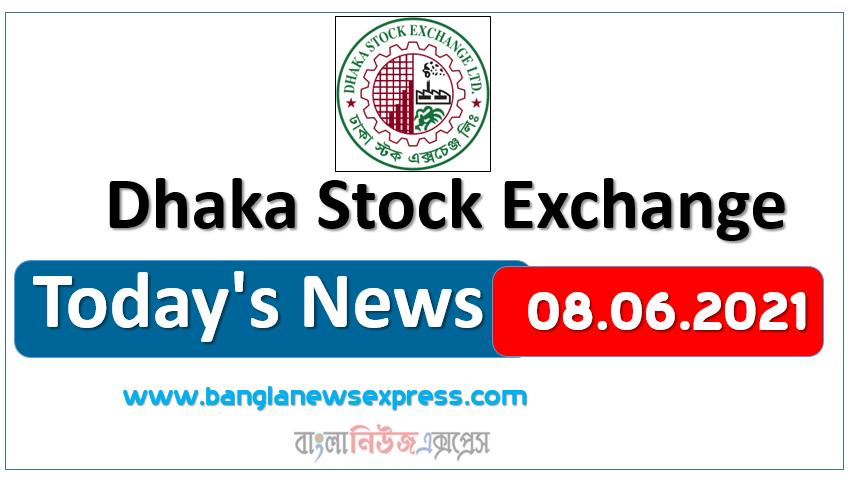 08.06.2021 Today's News Dhaka Stock Exchange (DSE)