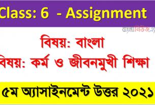 ৬ষ্ঠ শ্রেণির ৫ম সপ্তাহের অ্যাসাইনমেন্টের সমাধান লিংক, Class 6 Assignment 2021 Answer 5th Week All Subject Assignment Answer 2021
