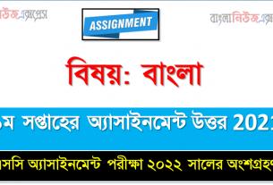 SSC Bangla 1st Week Assignment Answer Examiner 2022, এসএসসি দশম শ্রেণির বাংলা অ্যাসাইনমেন্ট ১ম সপ্তাহের এসাইনমেন্ট সমাধান ২০২১
