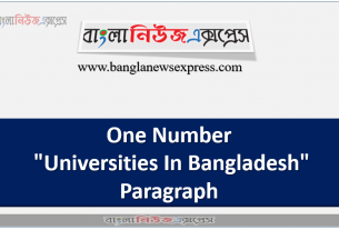 """One Number """"Universities In Bangladesh"""" Paragraph"""